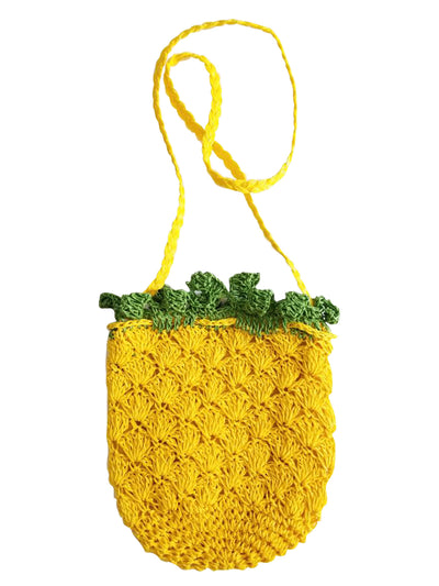 Ariza Yellow Pineapple Bag, Birthday Gifts for Girls, Cute Present Ideas - Quan Jewelry