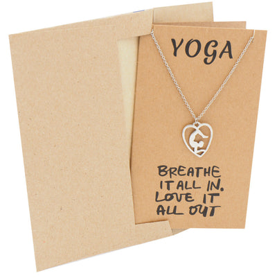 Piper Scorpion Yoga Pose Open Heart Necklace