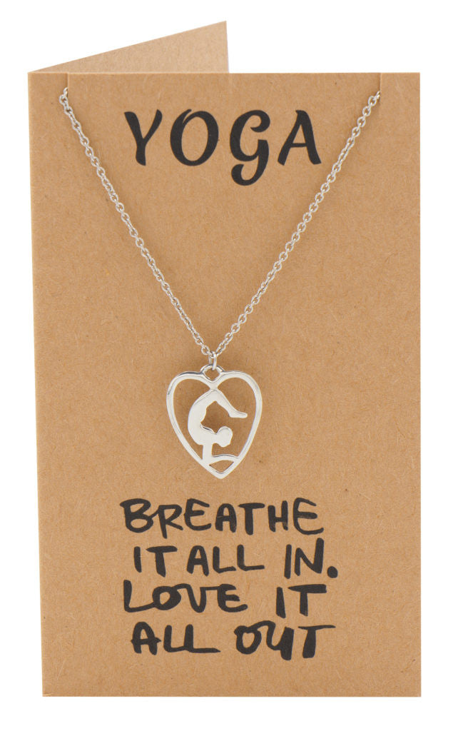 Piper Scorpion Yoga Pose Open Heart Necklace, Yoga Gifts,  - Quan Jewelry - 4