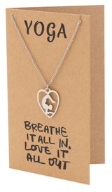 Piper Scorpion Yoga Pose Open Heart Necklace, Yoga Gifts,  - Quan Jewelry - 3