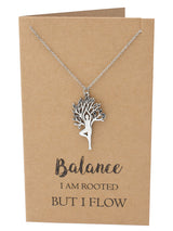 Chanda Yoga Pose and Tree of Life Necklace, Yoga Jewelry Gifts - Quan Jewelry