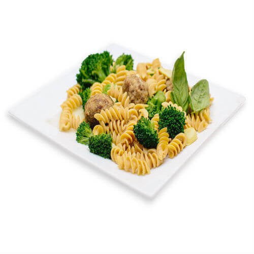 Fusilli with Broccoli and Turkey Meatballs