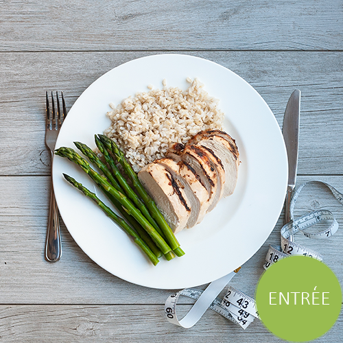 Grilled Chicken Breast w/ Brown Rice and Asparagus