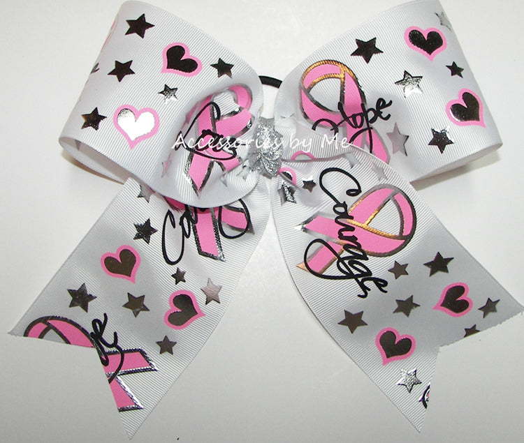 Love Hope Courage Cancer Cheer Bow