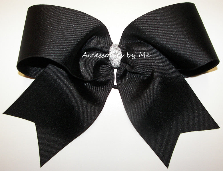 Black Big Cheer Bow