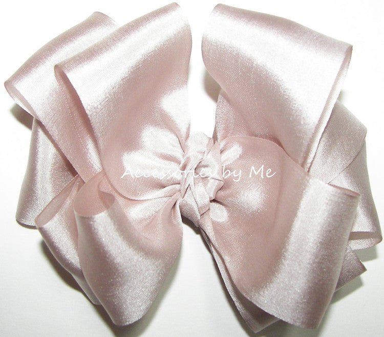 Blush Bisque Silk Hair Bow