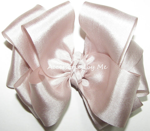 Blush Bisque Pure Silk Ribbon Hair Bow