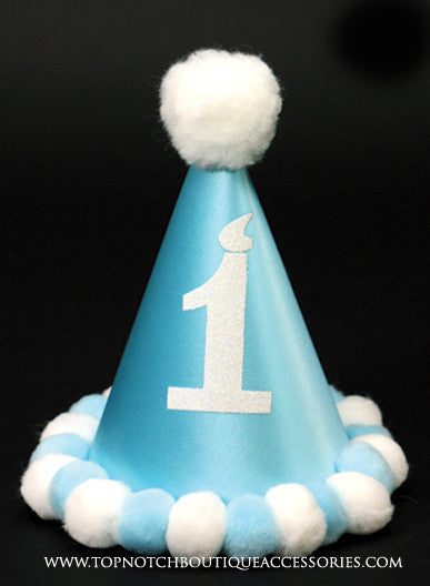 Boys 1st Birthday Blue Party Hat - Accessories by Me