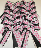 Bulk Lot 12 Breast Cancer Cheer Bows