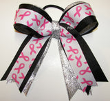 12 Bows Bulk Lot Breast Cancer Pink Ponytail Holder Cheer Softball Volleyball - Accessories by Me
