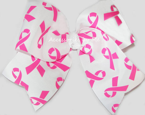 Breast Cancer Hot Pink Cheer Bow