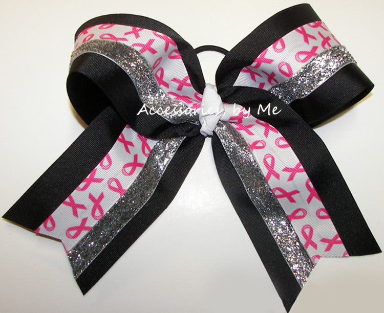 Breast Cancer Awareness Big Cheer Bow - Accessories by Me