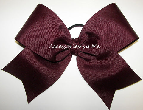 Maroon Big Cheer Bow