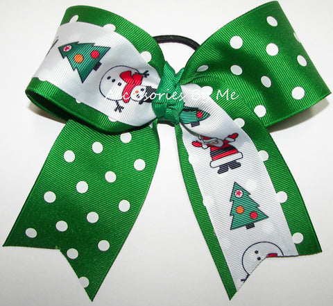 Christmas Themed Cheer Bow