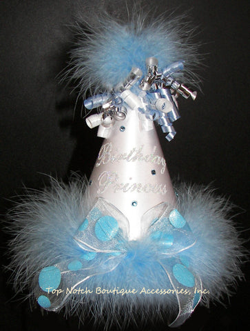 Girls Birthday Princess Frozen Blue Party Hat