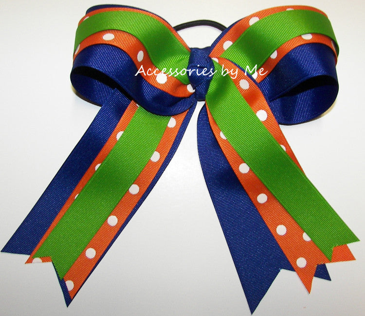 Gators Spirit Big Cheer Bow - Accessories by Me