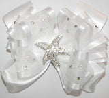 Beach Wedding White Hair Bow