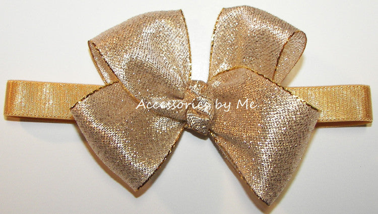 Glitzy Gold or Silver Baby Headband - Accessories by Me