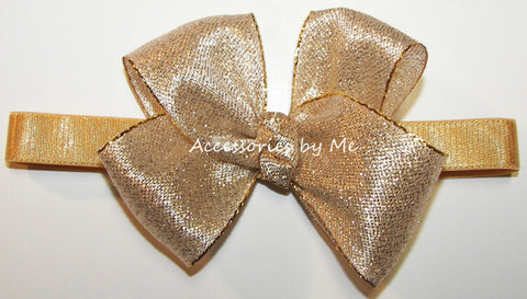 Glitzy Gold or Silver Baby Headband