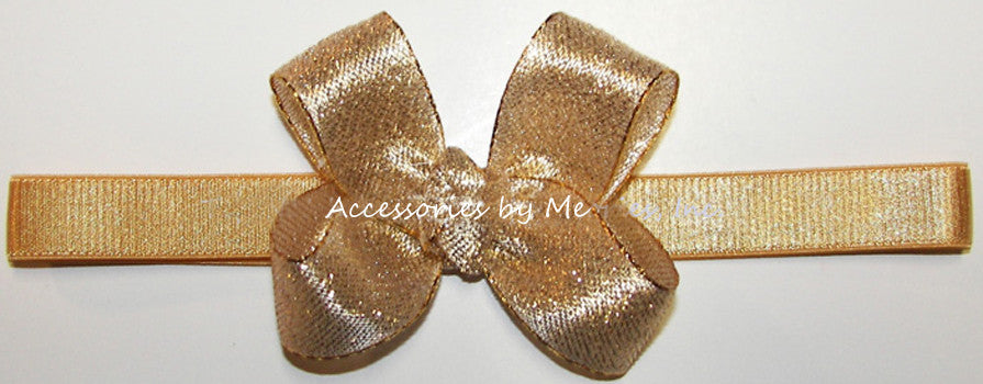 Glitzy Gold or Silver Bow Headband - Accessories by Me