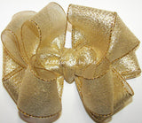 Gold Metallic Hair Bow - Accessories by Me