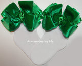 Emerald Green Velvet Bow Socks