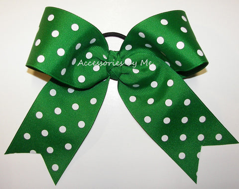 Polka Dots Big Cheer Bow