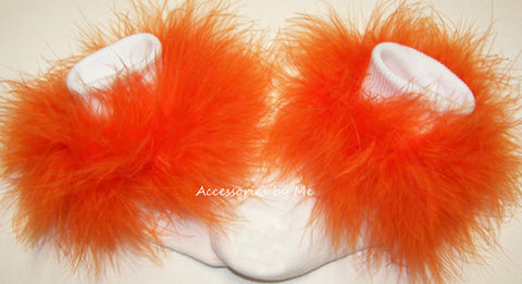 Halloween Orange Marabou Socks