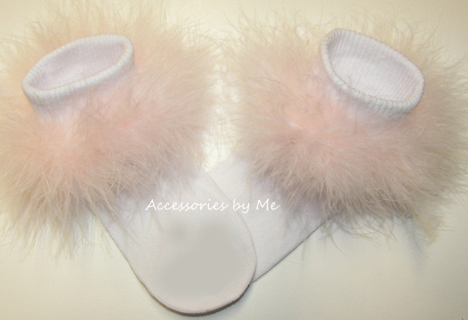Frilly Marabou Trim Socks Socks - Accessories by Me