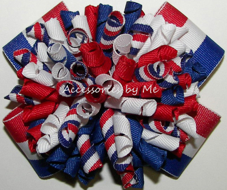 Korkers Red White Royal Blue Hair Bow