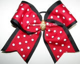 Red Polka Dot Big Cheer Bow