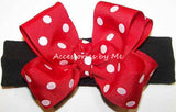 Minnie Red Polka Dot Bow Headband