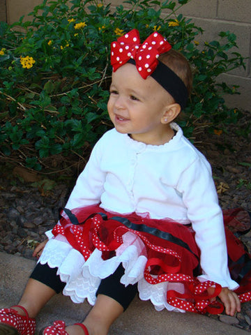 Minnie Mouse Polka Dot Bow Headband