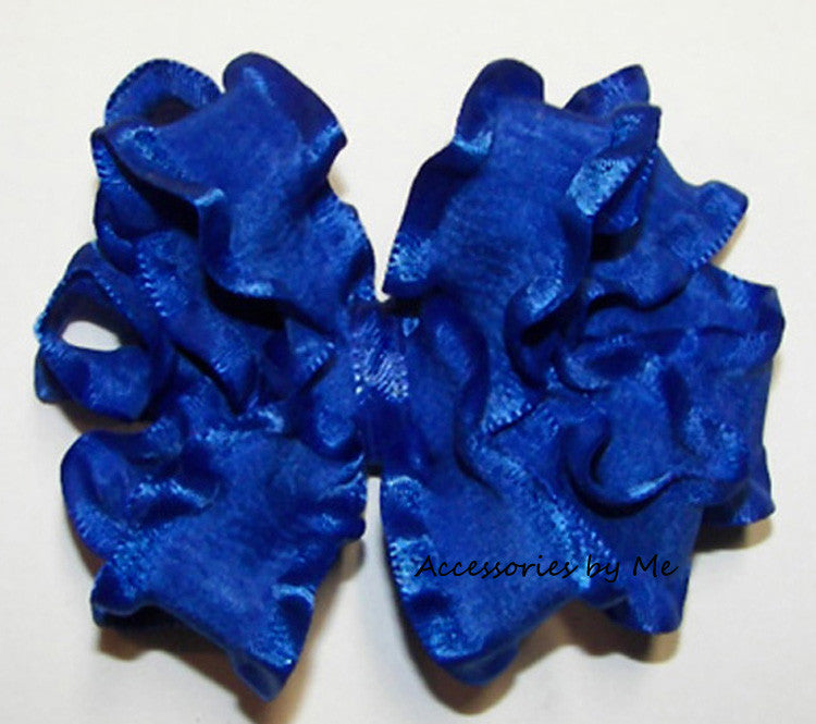 Frilly Ruffle Hair Bow - Accessories by Me