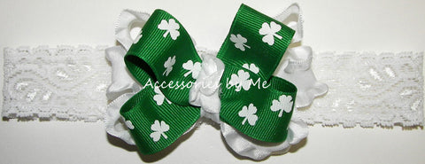 St. Patrick's Day Shamrock Bow Headband