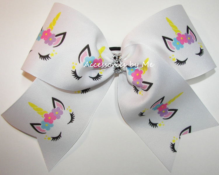 Sparkly Unicorn Cheer Bow