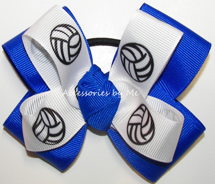 Volleyball Electric Blue Hair Bow