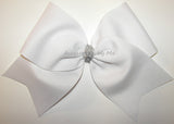White Big Cheer Bow
