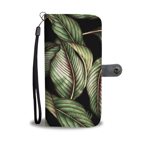 Versatile custom palm leave Phone wallet