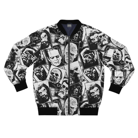 Unisex Bomber Jacket - Classic Monster collage