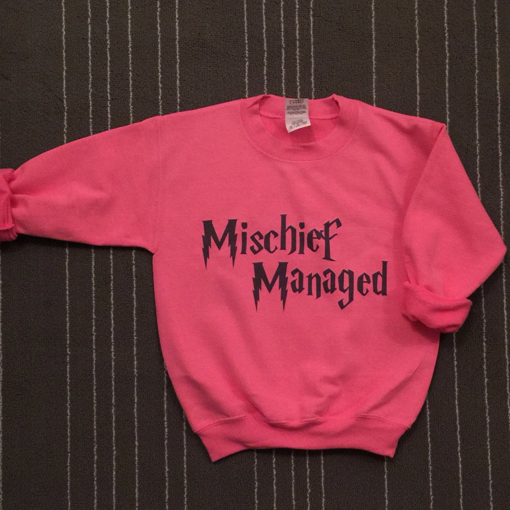 Harry Potter Mischief Managed Crewneck Sweatshirt for Adults and Kids