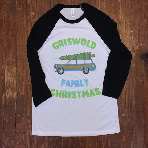 Griswold Family Christmas Vacation- Baseball ringer tee - Christmas