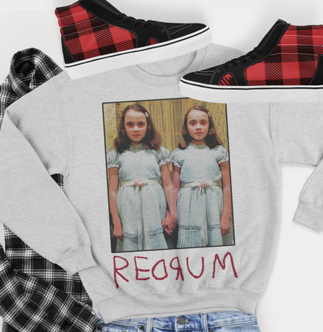 Unisex Sweatshirt - The Shining Twins - Redrum Murder