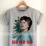 Blanche HO HO HO Holiday Christmas tee