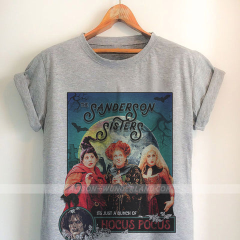 Hocus Pocus Shirt - Sanderson Sisters Poster with Billy Butcherson