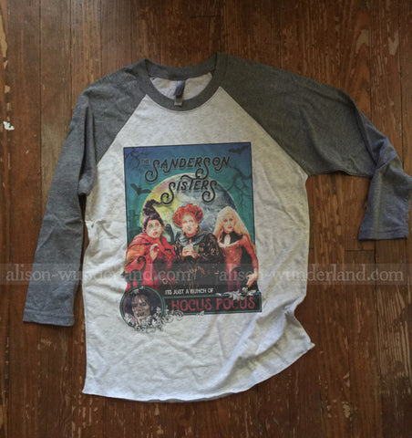 Hocus Pocus Halloween Shirt - Sanderson Sisters Poster with Billy Butcherson - Just a bunch of Hocus Pocus