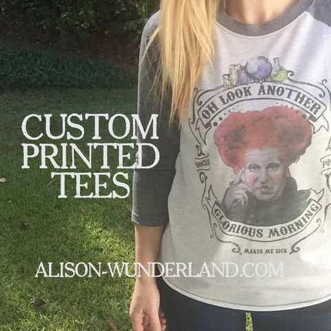 Custom Baseball Tee - Convo us with your desired image