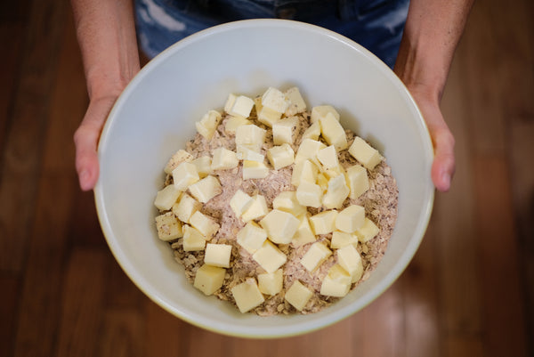Butter and dry ingredients to be mixed