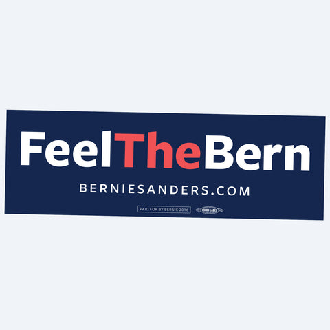 Feel the Bern on your car's bumper with this Bernie Sanders bumper sticker. Union-printed in the USA. Car safe.