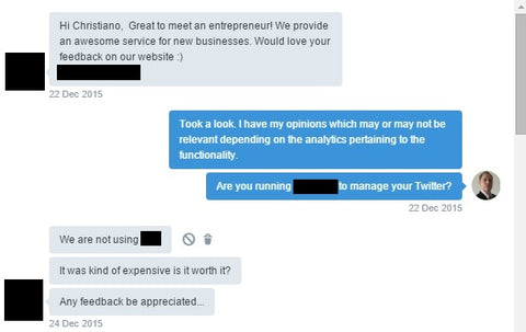 Twitter Marketing Automation Conversation 1